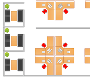 an example of a room layout template in Cacoo