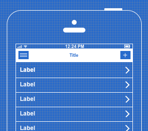 an example of a mobile device mockup template in Cacoo