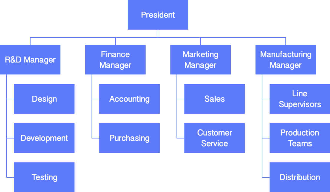software company organization structure Develop Your Organizational Charts | Cacoo
