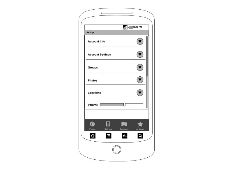 Android Wireframe Template | Cacoo