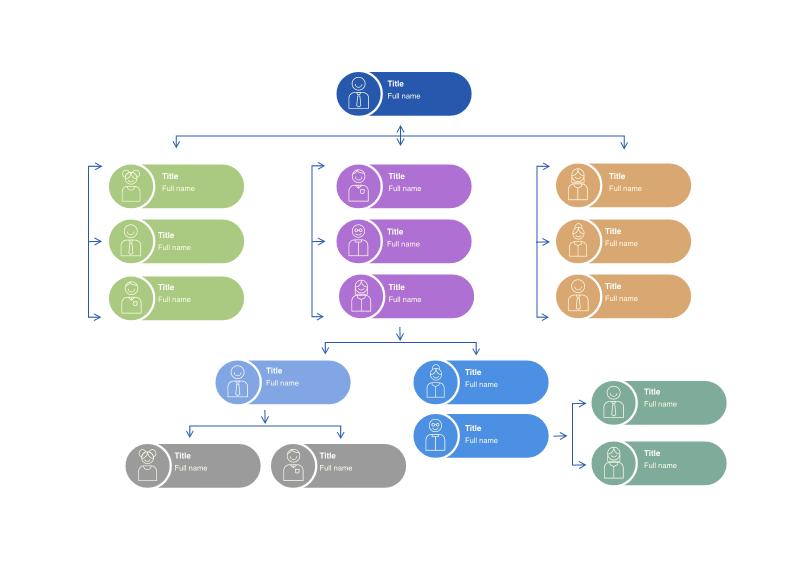 Basic Organizational Chart Cacoo
