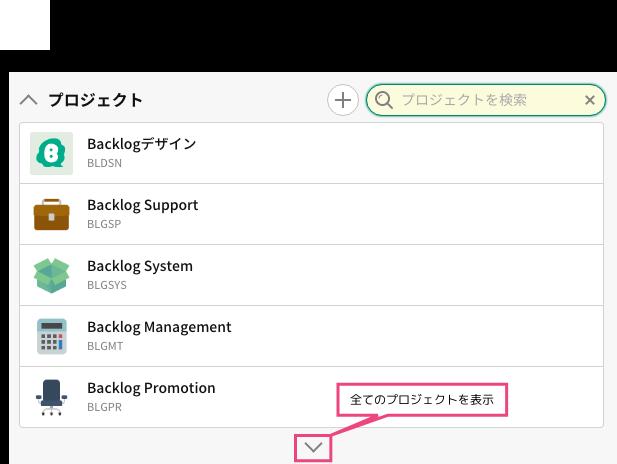 プロジェクト | プロジェクト管理ツールBacklog