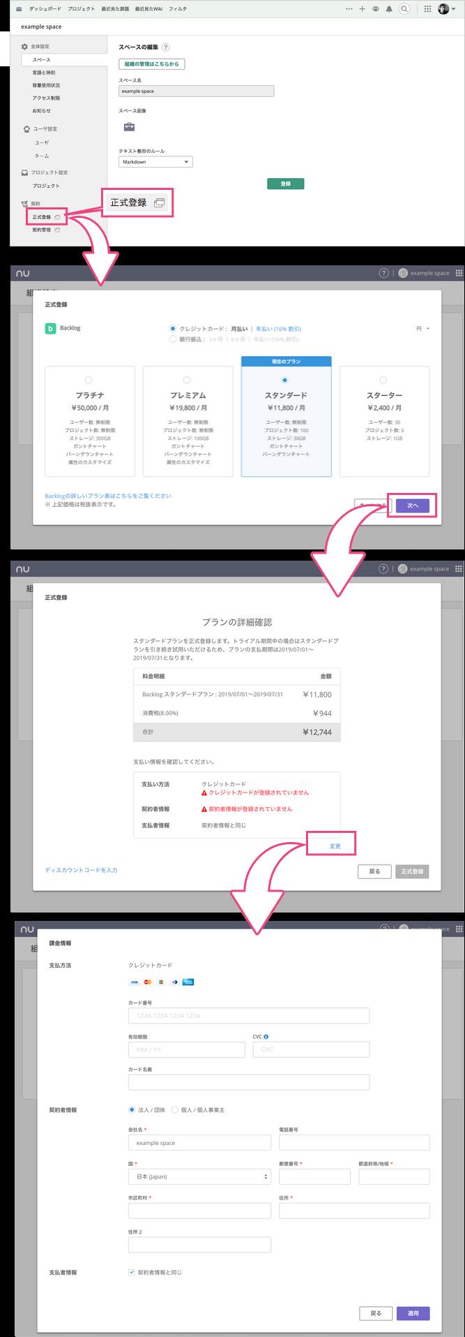 正式登録 | プロジェクト管理ツールBacklog