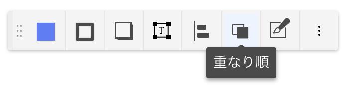 重なり順ボタン