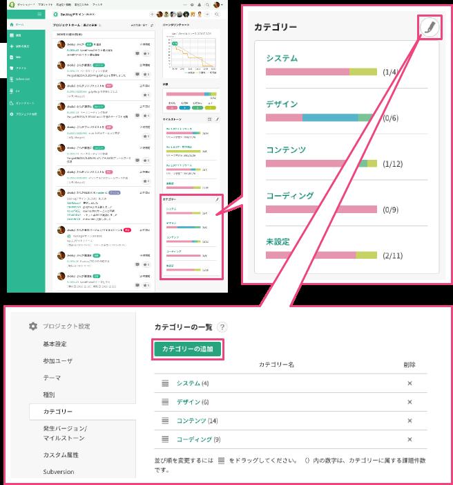 カテゴリーの設定方法 - Backlog (Japanese)