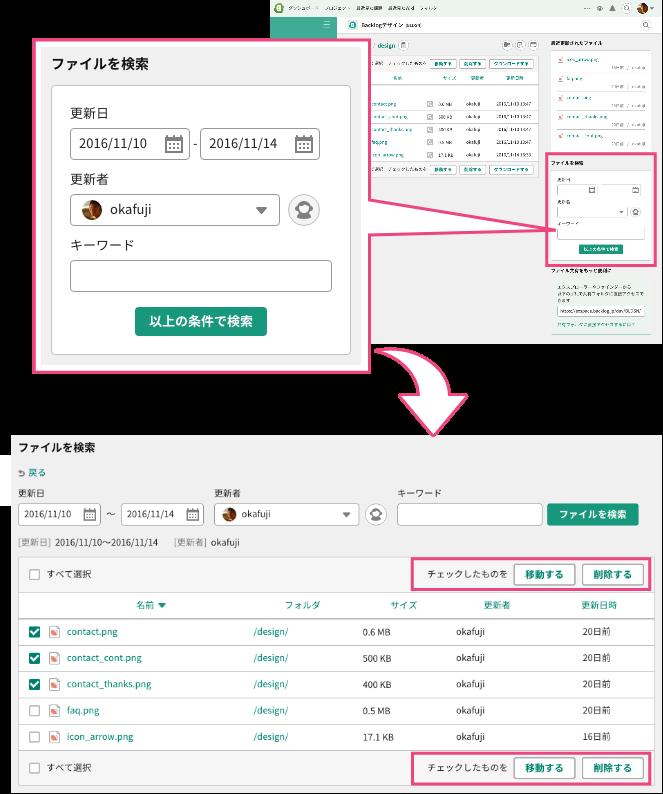 ファイルの検索 | プロジェクト管理ツールBacklog