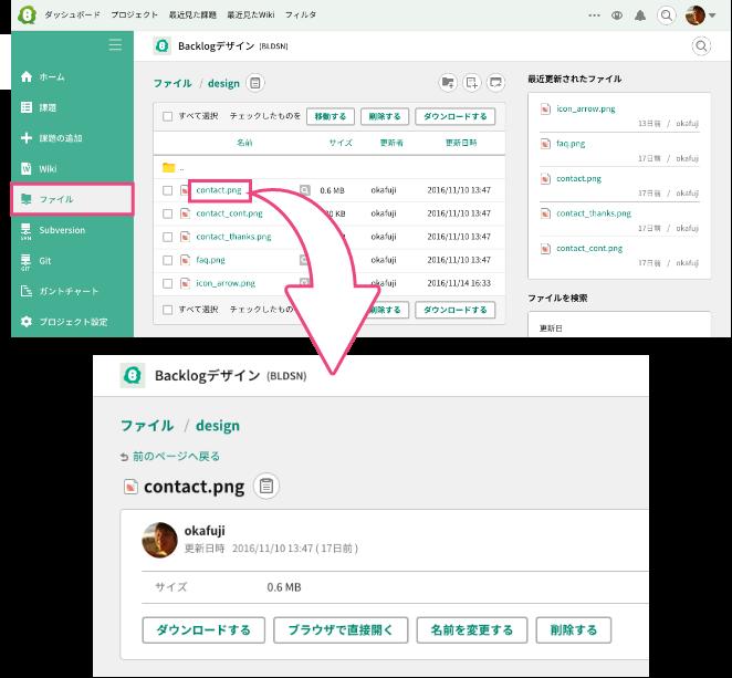 ブラウザからのアクセス | プロジェクト管理ツールBacklog