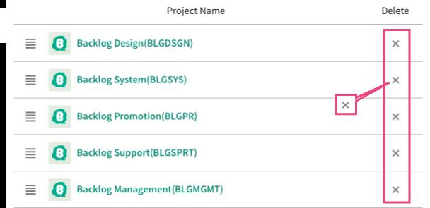 Delete Project | Backlog