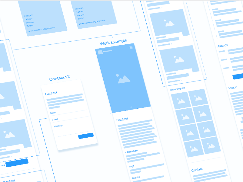 Jonathan Centino's wireframe example