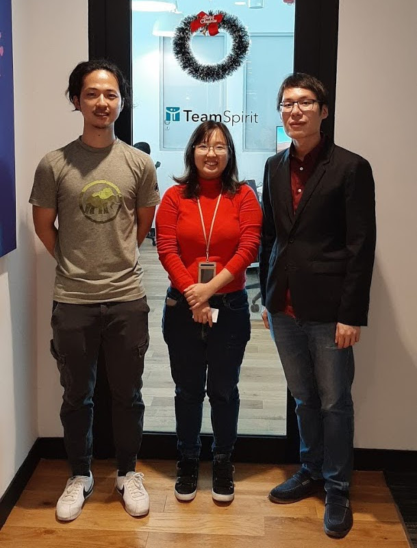 TeamSpirit developers at their Singapore office