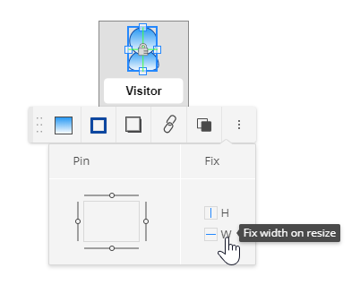 Instructions to set fixed width