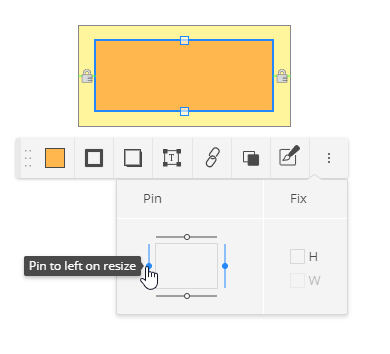 How to pin shape margins in a group
