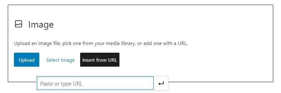 WordPress insert image url