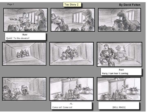 Toy Story Storyboard
